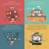 Design concept set for logistic royalty free illustration