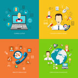 Design concept set for support Royalty Free Stock Photo