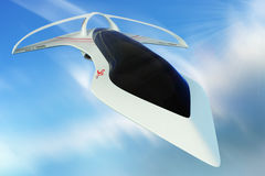 Design concept supersonic aircraft business class line horizon. 3D illustration. Stock Image