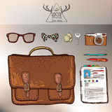 Design concept vector illustration of every day carry and outfit accessories Royalty Free Stock Photo