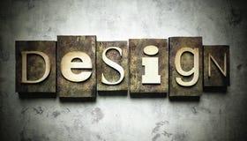 Design concept with vintage letterpress Stock Image