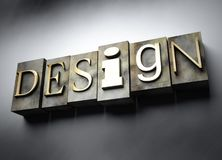 Design concept, vintage letterpress text Royalty Free Stock Images