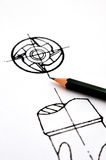 Design concept, whirl part of tool Royalty Free Stock Image