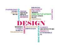 Design concept word cloud Royalty Free Stock Photos
