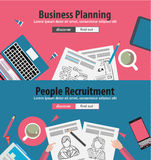 Design Concepts for business solution and financial management. Ideal for corporate brochures, flyers, digital marketing, product or idea presentations, web Stock Photos
