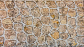 Design on concrete wall with cement mortar Royalty Free Stock Image