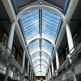 Design and construction. Architecture glass high ceilings Royalty Free Stock Image