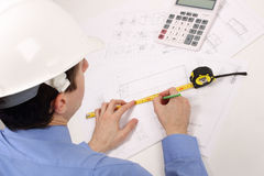 Design of construction plans Royalty Free Stock Image