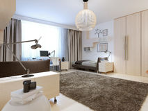 Design of contemporary bedroom Stock Image