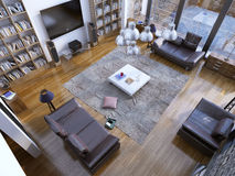 Design of contemporary living room Stock Image