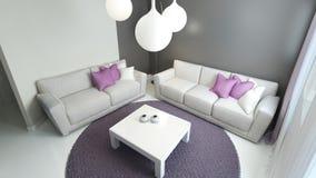 Design of contemporary sitting room Stock Photos