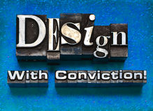 Design with conviction royalty free stock image