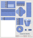 Design of corporate identity. Denim pattern for the company in the field of fashion and art. Stock Image