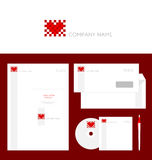 Design of corporate identity templates Stock Photo
