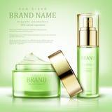 Design cosmetics product advertising royalty free illustration
