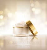 Design cosmetics product advertising. Vector illustration Royalty Free Stock Photos