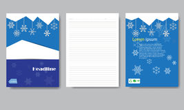 Design cover paper Christmas report. Stock Images