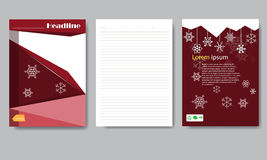 Design cover paper Christmas report. Royalty Free Stock Photos
