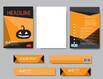 Design cover paper halloween report. Abstract geometric. Vector template. Design template  halloween Stock Photo