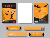 Design cover paper halloween report. Abstract geometric. Vector template. Design template  halloween Royalty Free Stock Image
