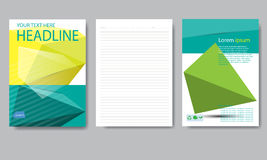 Design cover paper report. Abstract geometric vector template. Royalty Free Stock Photos