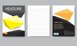Design cover paper report. Abstract geometric vector template. Stock Images