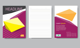 Design cover paper report. Abstract geometric vector template. Royalty Free Stock Image