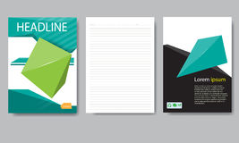 Design cover paper report. Abstract geometric vector template. Royalty Free Stock Images