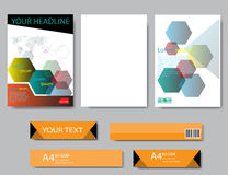 Design cover paper report. Abstract geometric vector template. Stock Photo