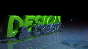 Design & Create. The words Design and Create together with technological glass spheres royalty free illustration