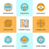 Design creation line icons set Stock Photography