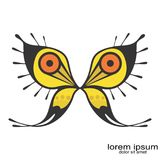 Creative sample abstract butterfly logo. Design creative abstract butterfly logo illustrations stock illustration
