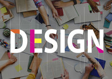 Design Creative Ideas People Graphic Concept.  Stock Photography
