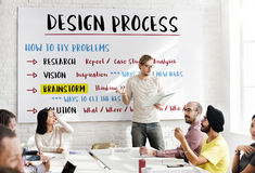 Design Creative Process Solution Concept royalty free stock images