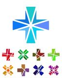 Design cross logo element. Royalty Free Stock Images