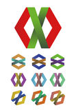 Design cross ribbon logo element Stock Images