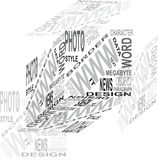 Design cube. From the words isolated on the white background Royalty Free Stock Photography
