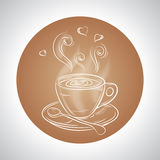 Design with cup of coffee and place for text Royalty Free Stock Photography