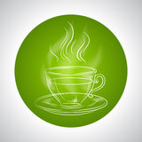 Design with cup of tea and place for text Royalty Free Stock Photography