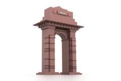 design 3d av den Indien porten Royaltyfria Bilder