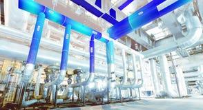 design 3D av fabriken som kombineras med fotoet Royaltyfria Foton