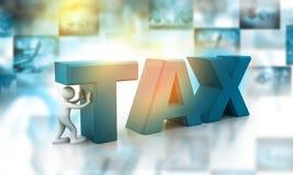 Design 3d des Steuer-Konzeptes Lizenzfreie Stockfotografie