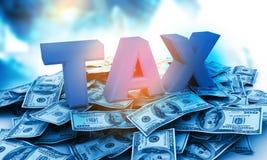 Design 3d des Steuer-Konzeptes Stockfoto