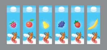 Design d'emballage de lait Photo libre de droits
