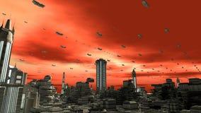 Futuristic planet royaltyfri illustrationer