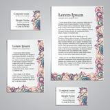 Design d'entreprise de carte de filigrane réglé - humeur naturelle Image libre de droits