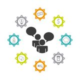 design d'entreprise de travail d'équipe Image stock