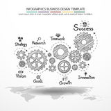 Design d'entreprise de vecteur d'Infographics Photo stock