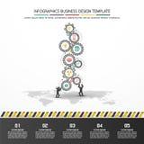 Design d'entreprise de vecteur d'Infographics Images libres de droits