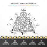 Design d'entreprise de vecteur d'Infographics Photos stock